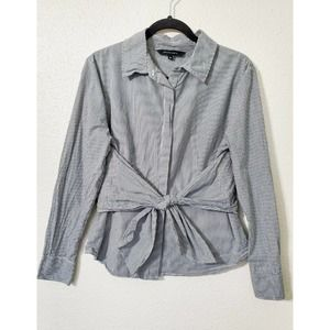 Walter Baker Striped Wrap Bow Button Up